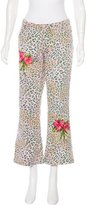 Blumarine Cheetah Print Mid-Rise Jeans