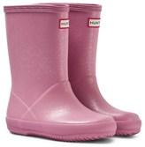 Hunter Pink Kid ́s First Glitter Wellington Boots