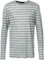 T By Alexander Wang - striped pullover - men - Linen/Flax - XL