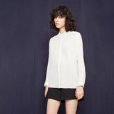 Maje Silk blouse with triple collar