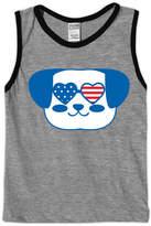 Urban Smalls Heather Gray Dog In Sunglasses Tank - Toddler & Boys