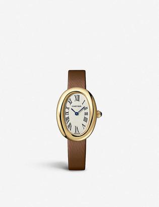 Cartier WGBA0007 Baignoire 18ct yellow-gold small quartz watch