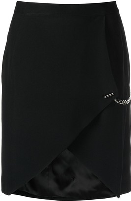 John Richmond Chain-Link Detail Asymmetric-Hem Skirt