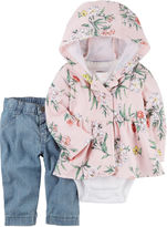 Carter's Girls 3-pc. Short Sleeve Pant Set-Baby