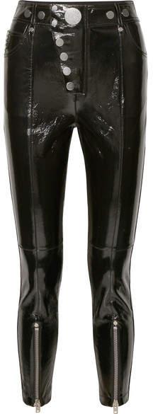 Alexander Wang Glossed-leather Skinny Pants - Black