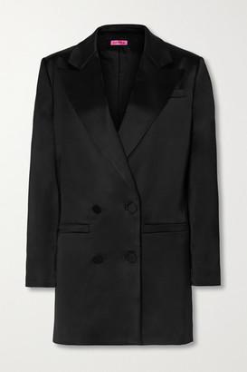 GAUGE81 Cartagena Oversized Double-breasted Satin Blazer - Black