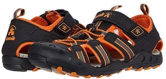 Kamik Crab (Toddler/Little Kid/Big Kid) (Black/Orange Charcoal) Boy's Shoes