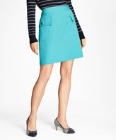 Brooks Brothers Double-Faced Cotton-Blend Skirt