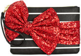 Betsey Johnson Large Sequin Bow Wristlet, Only At Macy's