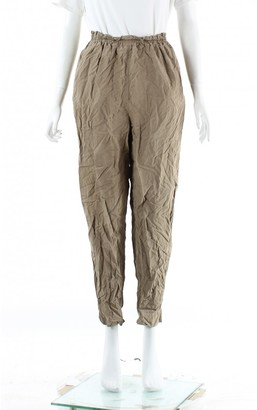 Michael Kors Beige Silk Trousers