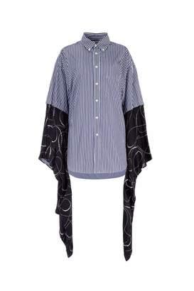 Balenciaga Striped Kimono Sleeved Shirt