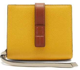 Loewe Anagram-debossed Grained-leather Wallet - Yellow Multi