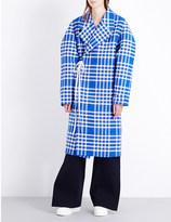 Jacquemus Le Manteau checked torchon coat