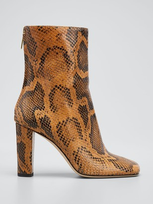 Paris Texas Python Square Toe Ankle Boot