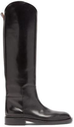 Jil Sander Panelled Leather Knee-high Boots - Black