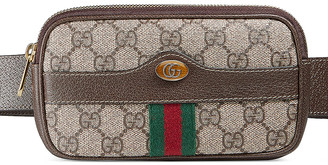 Gucci Canvas Belt Bag in Beige Ebony | FWRD