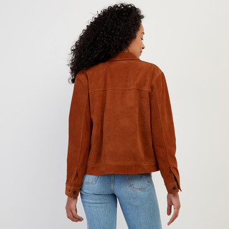 Roots Womens Trucker Jacket Suede