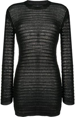 Saint Laurent Semi-Sheer Knit Dress