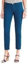 LOFT Modern Straight Cuffed Cropped Jeans in Cayman Blue