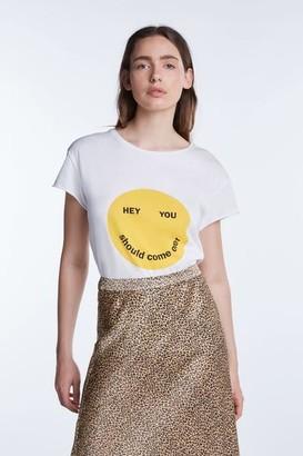 Set Fashion - Hey T Shirt In White - 40 / White