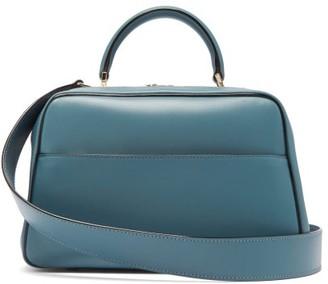 Valextra Serie S Medium Smooth-leather Shoulder Bag - Womens - Blue