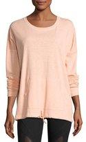 Vimmia Renew Scoop-Neck Cotton Pullover, Peach