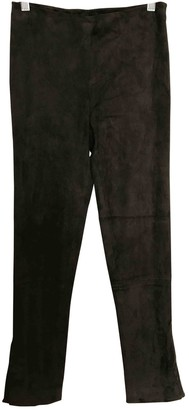 The Row Brown Suede Trousers