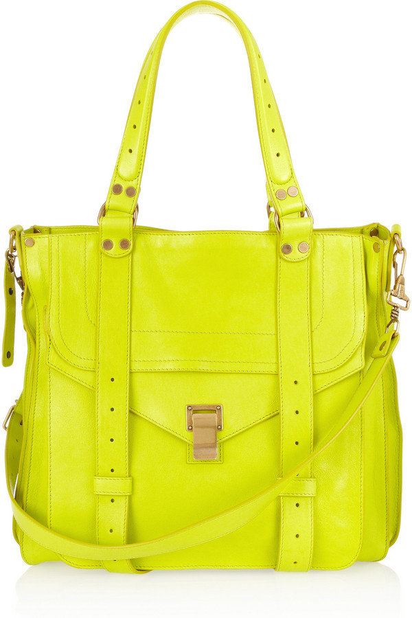 Proenza Schouler PS1 neon leather tote