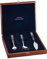 Royal Selangor Teddy Bears Picnic Fork/Spoon/Knife In Gift Box