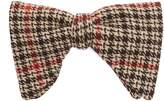 Gucci Tartan cotton-blend bow tie