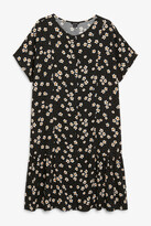 Monki Ruffle hem shirt dress
