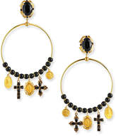 Dolce & Gabbana Embellished Hoop-Drop Earrings