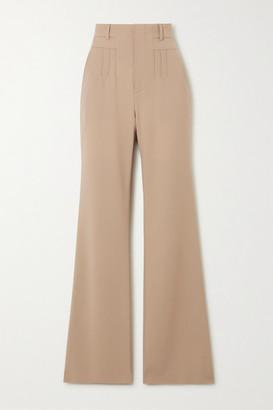 Altuzarra Zeke Grain De Poudre Wool-blend Flared Pants - Beige