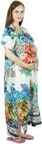 Bimba Maternity Hospital Kaftan Belt Nursing Night Gown, Front & Back Buttons