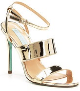 Betsey Johnson Blue by Jenna Metallic Banded Ankle Strap Dress Sandals