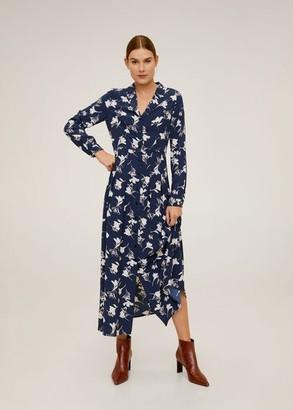 MANGO Printed shirt dress navy - 4 - Women