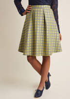 ModCloth Work Skirt with Accent Pleats in S