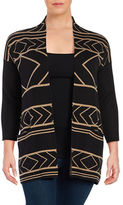 Context Plus Geometric Cotton-Blend Cardigan