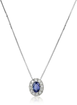 Tagliamonte Incanto Royale Diamond and Sapphire Round 18K Gold Pendant Necklace