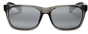 Maui Jim Unisex Boardwalk Polarized Square Sunglasses, 55mm