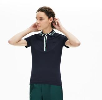 Lacoste Women's Contrast-Trim Stretch Cotton Polo