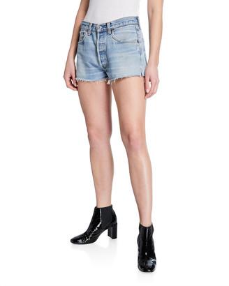 RE/DONE Frayed Cutoff Denim Shorts