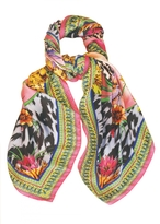 Matthew Williamson Tropical Leopard Print DNA Silk Scarf