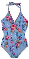 Gossip Girl Girl's Gypsy Flower One-Piece Swimsuit