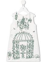 Dolce & Gabbana brocade dress - kids - Cotton/Polyester/Viscose - 2 yrs