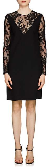 Givenchy Women's Lace-Inset Wool Dress - Black