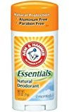 Arm & Hammer A&H Ess Unsented Size 2.5z Essentials Unscented Natural Deodorant