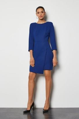Karen Millen Strong Shoulder Zip Detail Dress