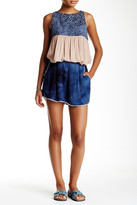 Scrapbook Lace Band Dip Dye Short