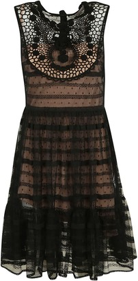 RED Valentino Sleeveless Lace Dress